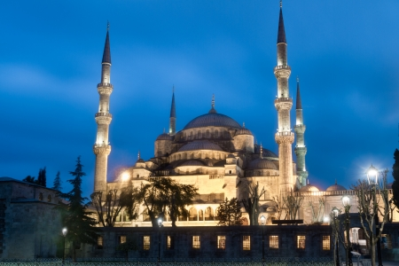 popularly: The Sultan Ahmed Mosque is an historic mosque in Istanbul  The mosque is popularly known as the Blue Mosque for the blue tiles adorning the walls of its interior  Stock Photo