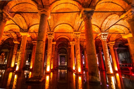 justinian: The Basilica Cistern  Turkish  -  Sunken Palace Editorial