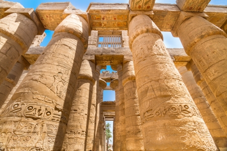 Great Hypostyle Hall  at the Temples of Karnak  ancient Thebes   Luxor, Egypt photo