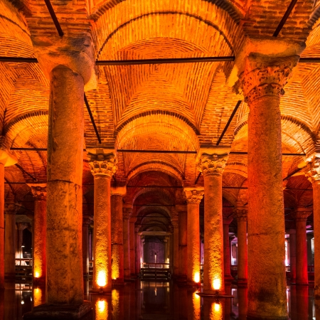 The Basilica Cistern , Turkey.