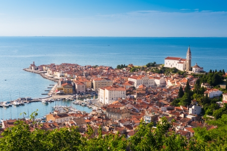 Picturesque old town Piran - Slovenian adriatic coast  photo