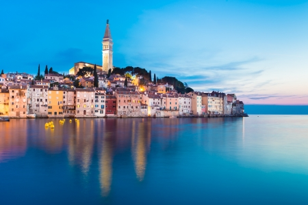 mediterranean houses: Rovinj city in Croatia  Stock Photo