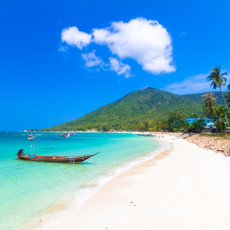 Buritara bay, Koh Phangan, Phangan Tropical Island, paradise of Thailand. photo