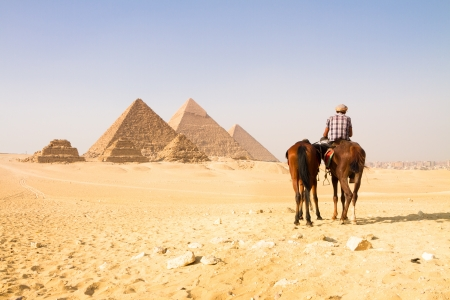 intact: The pyramids of Giza, Cairo, Egypt;  the oldest of the Seven Wonders of the Ancient World, and the only one to remain largely intact