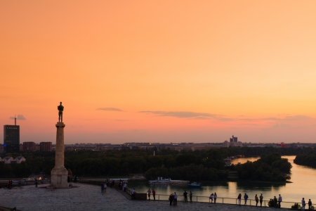 Statue of the Victor or Statue of Victory is a monument in the Kalemegdan fortress in Belgrade, erected on 1928 to commemorate the Kingdom of Serbias war victories over the Ottoman Empire and Austria-Hungary. It is most famous works of Ivan Mestrovic. photo
