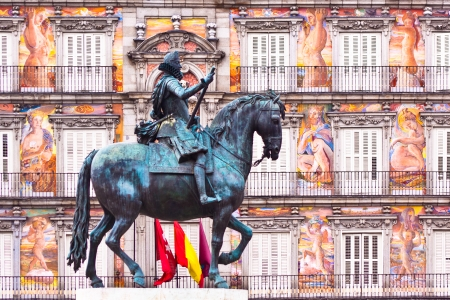 Statue of King Philips III, Plaza Mayor, Madrid, Spain.