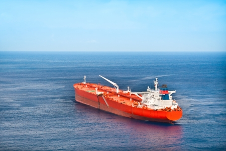 Red oil tanker photo