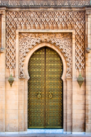 Royal entrance to the mosque in Rabat, Morocco photo