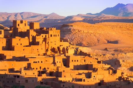 massa: Ait Benhaddou,fortified city, kasbah or ksar, along the former caravan route between Sahara and Marrakesh in present day Morocco. It is situated in Souss Massa Draa on a hill along the Ounila River. Editorial