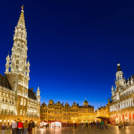 Grote Markt - The main square and Town hall of Brussels, Belgium, Europe