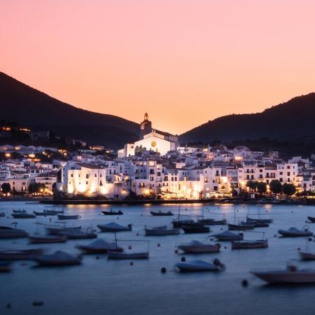 Cadaques in sunset, Costa Brava, Catalunia, Spain. photo