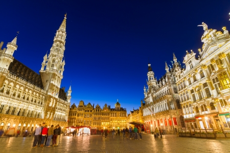 Grote Markt - The main square and Town hall of Brussels, Belgium, Europe. 免版税图像 - 23449993