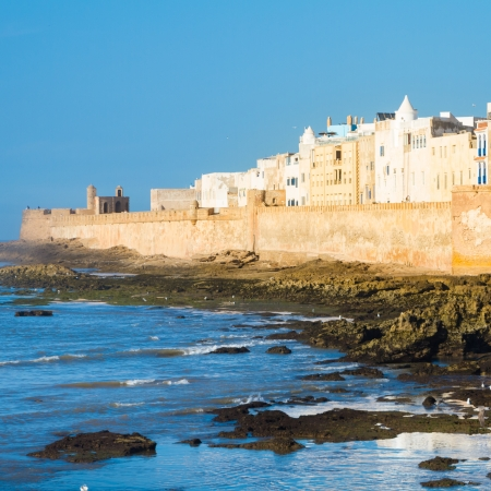 Essaouira is a city in the western Moroccan economic region of Marrakech Tensift Al Haouz, on the Atlantic coast. It has also been known by its Portuguese name of Mogador. Morocco, north Africa. photo