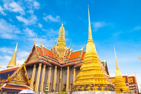 kaew: Thailand, Bangkok, The Wat Phra Kaew   Temple of the Emerald Buddha , famous for golden pagoda