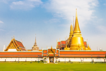 emerald city: Thailand, Bangkok, The Wat Phra Kaew   Temple of the Emerald Buddha , famous for golden pagoda