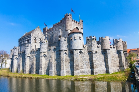 Gravensteen - Castle of the Counts; Ghent, Belgium. The Gravensteen is a castle in Ghent originating from the Middle Ages. The name means castle of the count in Dutch