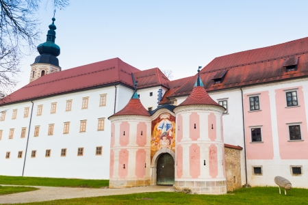 convent: The Cistercian monastery Kostanjevica na Krki, homely appointed as Castle Kostanjevica, Slovenia, Europe.