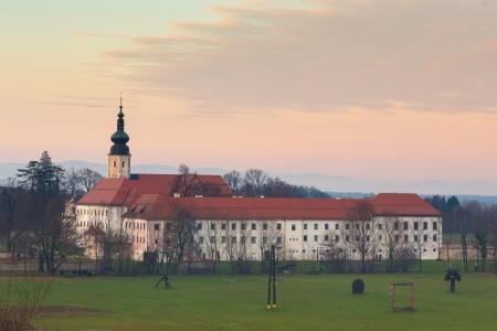 homely: The Cistercian monastery Kostanjevica na Krki, homely appointed as Castle Kostanjevica, Slovenia, Europe.