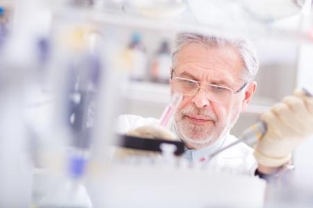 Scientifique de la vie des recherches en laboratoire. Sciences de la vie comprennent domaines de la science qui impliquent l'étude scientifique des organismes vivants: micro-organisme, végétal, animal et les cellules humaines, les gènes, l'ADN Banque d'images - 25204399