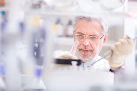 Life scientist researching in laboratory. Life sciences comprise fields of science that involve the scientific study of living organisms: microorganism, plant, animal and human cells, genes, DNA photo