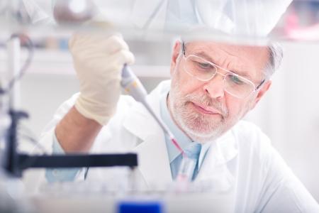 Leben Wissenschaftler forschen im Labor. Biowissenschaften umfassen Bereiche der Wissenschaft, die die wissenschaftliche Untersuchung von lebenden Organismen betreffen: Mikroorganismen, Pflanzen, Tieren und menschlichen Zellen, Genen, DNA ...