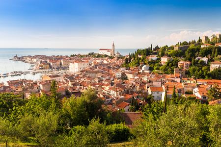 slovenian: Picturesque old town Piran - Slovenian adriatic coast.