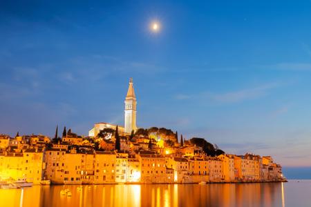 mediterranean coast: Rovinj is a city in Croatia situated on the north Adriatic Sea Located on the western coast of the Istrian peninsula, it is a popular tourist resort and an active fishing port.