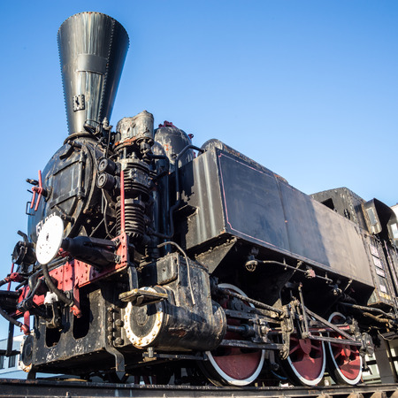 Vintage black steam engine
