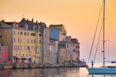 western town: Romantic Rovinj is a town in Croatia situated on the north Adriatic Sea Located on the western coast of the Istrian peninsula, it is a popular tourist resort and an active fishing port.