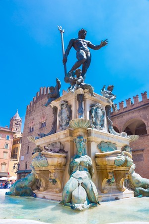eponymous: The Fountain of Neptune, monumental civic fountain located in the eponymous square Piazza Nettuno next to Piazza Maggiore in Bologna, Italy