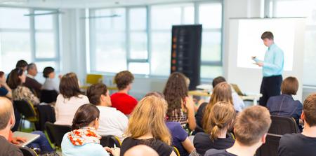 Speaker at business workshop and presentation,  Audience at the conference room Reklamní fotografie - 30139837