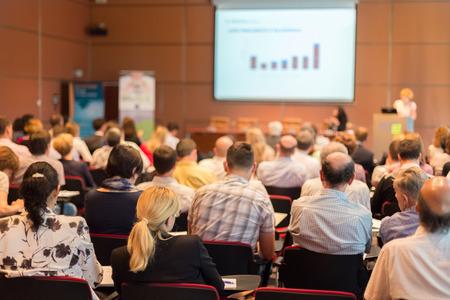 Business Conference a prezentace Audience v konferenčním sále