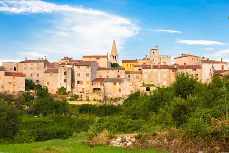 bale: Panorama of Bale village in Istrian peninsula, Croatia  Stock Photo