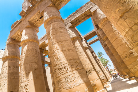 thebes: Ancient Egyptian Temple of Karnak (ancient Thebes). Luxor, Egypt.