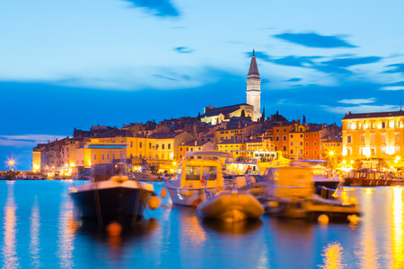 adriatic: Romantic Rovinj is a town in Croatia situated on the north Adriatic Sea Located on the western coast of the Istrian peninsula, it is a popular tourist resort and an active fishing port.