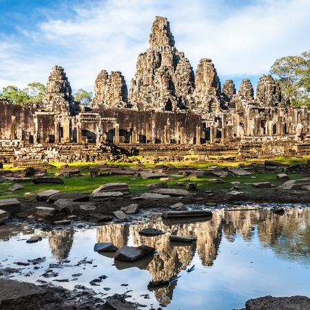 bayon: Bayon temple in the afternoon sun, Angkor Wat, near Siem Reap, Cambodia, South East Asia.