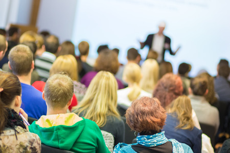 Faculty lecture and workshop. Audience at the lecture hall. Academic education. Stock fotó - 34810309