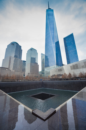 WTC Memorial Plaza, National September 11 Memorial, Manhattan, New York, United States of America.