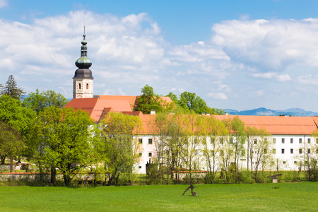 homely: The Cistercian monastery Kostanjevica na Krki, homely appointed as Castle Kostanjevica, Slovenia, Europe.