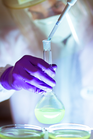 human cancer: Life scientist researching in laboratory.