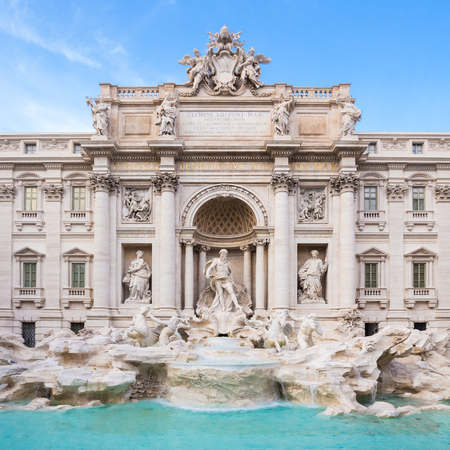 baroque: Trevi Fountain, largest Baroque fountain in the city and one of the most famous fountains in the world located in Rome, Italy.