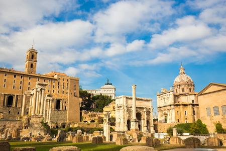 severus: Roman ruins in Rome, Forum. Horizontal composition.