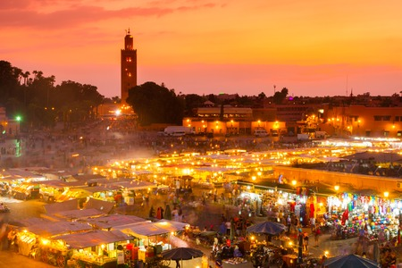 Jamaa el Fna also Jemaa el-Fnaa, Djema el-Fna or Djemaa el-Fnaa is a square and market place in Marrakesh, Morocco, Africa.
