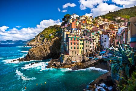 Maggiore, een vissersdorp in Cinque Terre, Italië Stockfoto