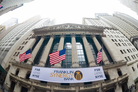 nyse: New York City, United states of America - march 26: New York Stock Exchange on Wall Street on March 26, 2015. It is the worlds largest stock exchange by market capitalization of its listed companies.