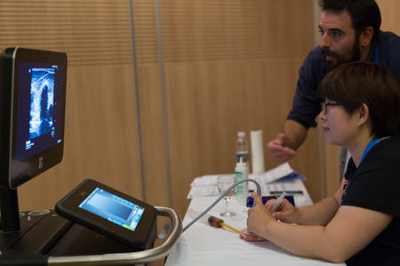 september 9th: Ljubljana, Slovenia - Sept 9: Participants learning new techniques, approaches and use of ultrasound in medicine on 12th Winfocus world congress on 9th of September, 2016 in Ljubljana, Slovenia.
