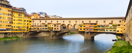 ponte vecchio: Ponte Vecchio over Arno river in Florence, Italy. Stock Photo