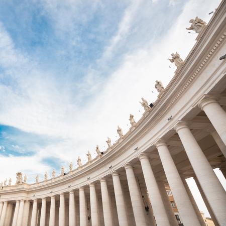 St Peters Square in Vatican Rome built by Gian Lorenzo Bernini.