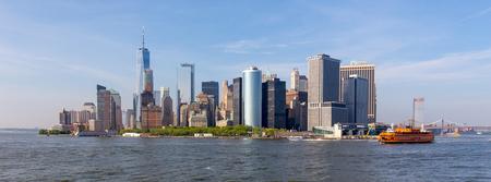 Panoramic view of Lower Manhattan, New York City, USA. 스톡 콘텐츠