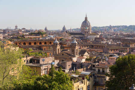 Skyline of Rome, Italy. Rome architecture and landmark. Rome cityscape